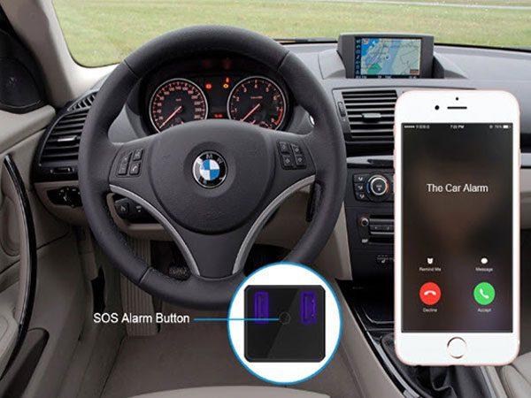تصویری مفهومی از هشدار ردیاب فندکی OBD Ir140 به مالک خودرو